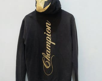 CHAMPION Sweatshirts Zipper Hoodies Hip Hop Style Rare!! Vintage