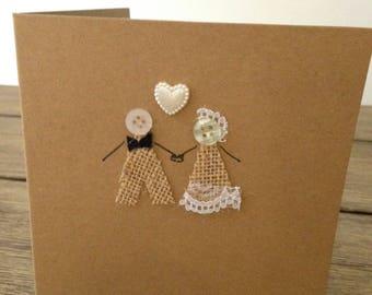 Wedding card / wedding acceptance card / wedding invite / greeting card / handmade / personalised