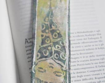 Bookmarks handmade with print Linoleografica Christmas gift unique