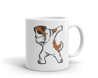 Cute Dabbing Saint Bernard Mug Funny Dab Dance Dog Gift