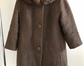 Tweed swing coat | Etsy