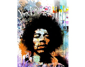 Instant download JIMI HENDRIX, printable, poster w0082