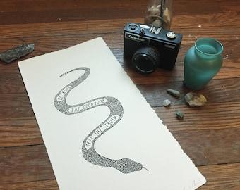 Wisdom Snake Print