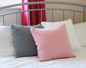Crochet Cushion with Wool- Pink