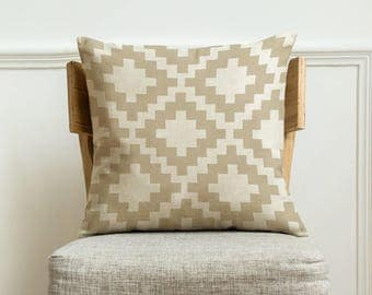 Geometric pillow cover,throw pillow 18x18 inches,Home decorative pillow case,handmade cushion pillow cover,Christmas gift