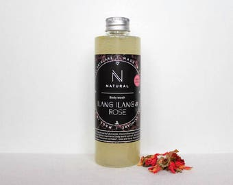 N A T U R A L | body wash with rose and ylang-ylang flavor | handmade | Christmas gift | gift for mom