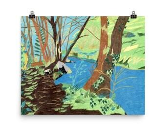 The Wissahickon Creek - Beautiful Archival Cotton Rag Fine Art Giclée Print Supporting the Nonprofit Fresh Artists