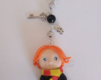 Ron (harry potter) Keychain polymer clay