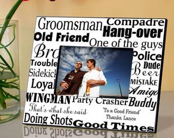 Personalized Groomsman Frame - Groomsman Photo Frames - Groomsman Picture Frames - Wedding Party Gifts - Groomsman Gifts - Groomsman Frames