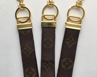 Handmade Monogram Louis Vuitton Repurposed Wristlet