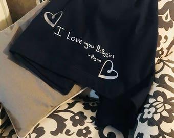 Personalized Stadium Blanket - Straight from the letter - Custom Blanket - Sweatshirt Material - Fleece Blanket