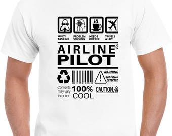 Airline Pilot T Shirt