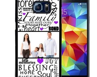 Customized Rubber Case For Samsung S5, S6, S6 edge, S6 Edge Plus, S7, S7 Edge,  8, 8 plus - Family Typography