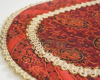 Handmade Table Cloth, Termeh tablecloth, Handcraft tablecloth, coffee tablecloth, bedside tablecloth