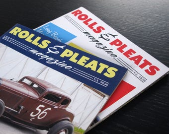 1 Brand new copy Rolls & Pleats. Traditional 1950s Hot Rod magazine. Pick one issue of your choice from a list