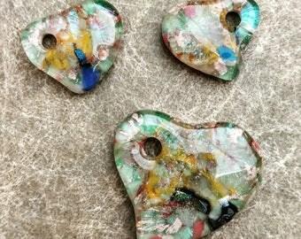 Set of 3 Arlo Glass Matching Heart Pendantz