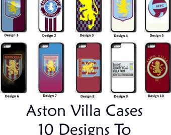 Aston Villa FC iPhone 5 5C SE 6 7 8 PLUS X Case Cover