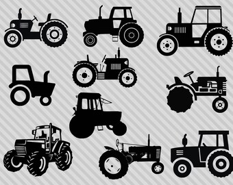 Tractor svg bundle, tractor silhouette svg, tractor clipart, dxf,png