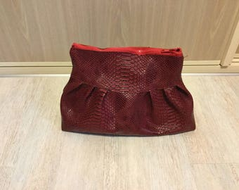 Burgundy faux leather Toiletry Kit
