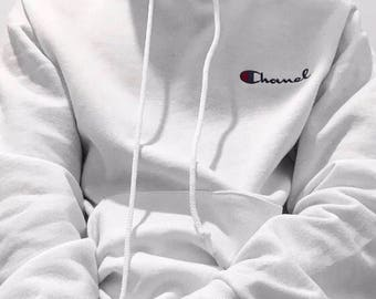 chanel x champion. ava nirui gucci chanel design hoodie hoody sweatshirt - avanope x champion