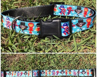 Handmade Dog Collar 'Mini Superhero'