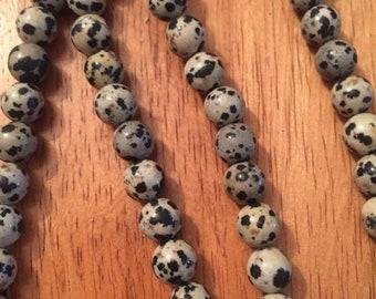 Natural Dalmation Jasper Beads