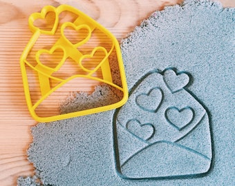 Love Envelope with hearts Cookie Cutter