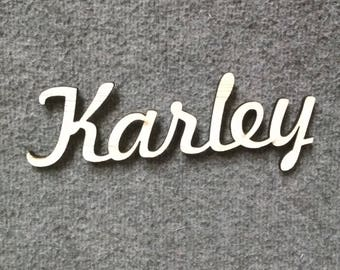 Custom Engraved Wood Name Cut Out