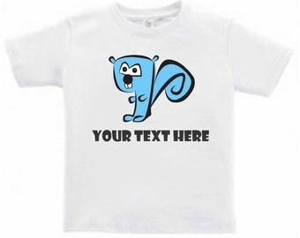 Schmirrel the Squirrel - Customize Toddlers/Kids T-Shirt