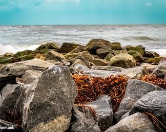 Stormy Sea: Beach Photograph from Boynton Beach Florida
