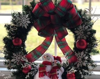 Classic AnnaLee Snowmen Wreath