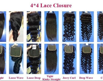 4 x 4 lace closure