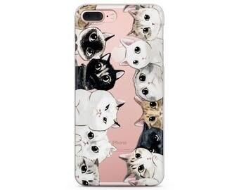 cute cat iPhone 10 case iphone 7 case cat iPhone8 iphone 7 case kitten iPhone 8 plus case iphone cat case x iPhone case kitten iphone case
