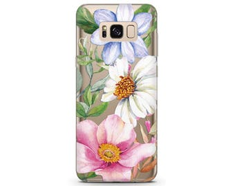 Flowers phone case Galaxy note 8 pixel cases clear Samsung 7 phone case Flower phone case pixel 2 xl case floral Samsung A5 cover pixel xl