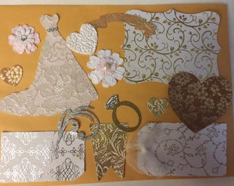 Wedding scrapbook die cuts