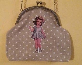 Metal mouthpiece bag girl/moles