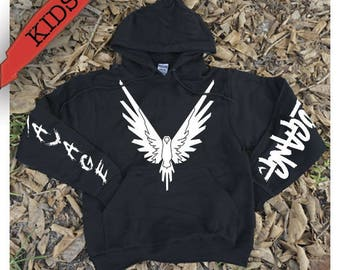 Maverick Logang Savage Sleeves white // Hoodie Sweatshirt