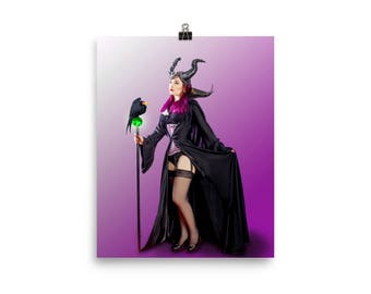 Maleficent Pinup Poster