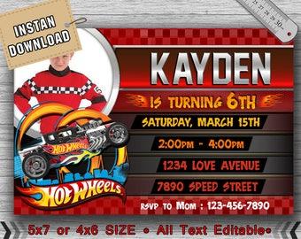 Hot Wheels Invitation,Hot Wheels Birthday,Hot Wheels Party,Hot Wheels Birthday Inviation,Hot Wheels Birthday Invitation-F0143