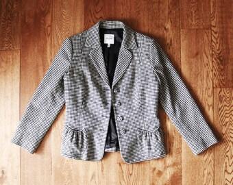 Vintage Designer | Moschino Jeans | size 6 | monochrome | houndstooth patterned blazer jacket