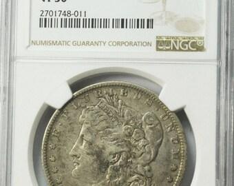 1882 O/S 1 Morgan Silver Dollar NGC VAM 4 NGC VF30 Top 100