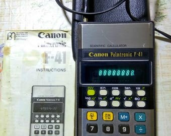 Vintage Canon Palmtronic F-41 Calculator Tested Works! Very Rare