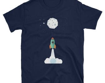 Ethereum To The Moon Funny Crypto T-Shirt