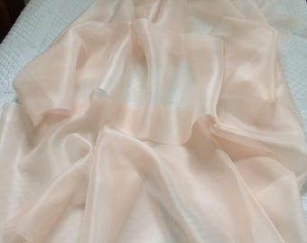Silk organza and matching embroidered silk organza