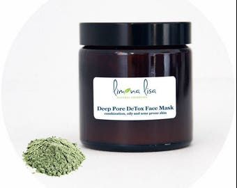 Deep Pore DeTox Face Mask combination, oily and acne prone skin by Limona Lisa - natural cosmetics *ORGANIC* *HANDMADE* *no parfum/scents*
