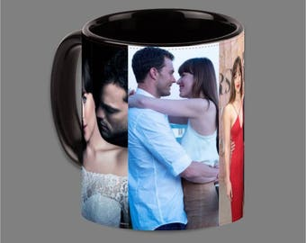 Dakota Johnson Jamie Dornan Coffee Cup Fifty Shades #0023