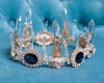 Magic Crystar Tiara Crown for wedding dress, diademe for evening dress, princess tiara wedding tiaras
