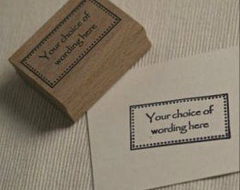 Custom Text Personalised Frame Rubber Stamp