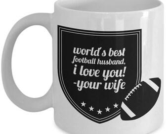 WORLD'S BEST Football Husband! Coffee Mug