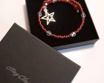 Ruby Red Beaded Bracelet